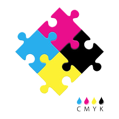 CMYK jigsaw graphic